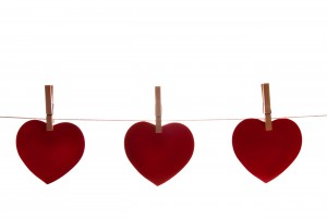 Hearts on a line